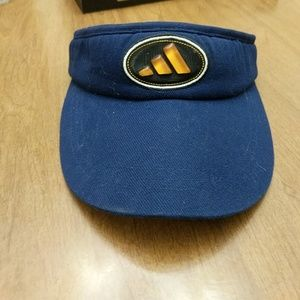 ADIDAS Navy Blue/yellow VISOR HAT Golf tennis 1 sz